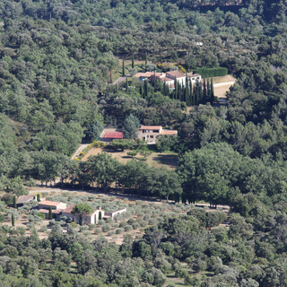 Aerial view of Provence escape, La Jassine, from the Luberon