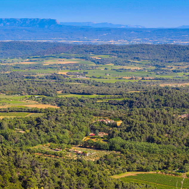 View of Provence escape, La Jassine, from the Luberon
