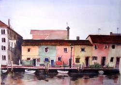Burano Canal Houses