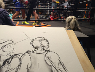 Sparring and Drawing with George Forman