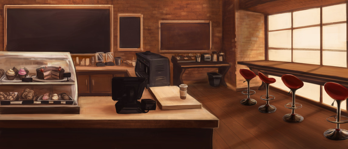 City Blend Background - Cafe