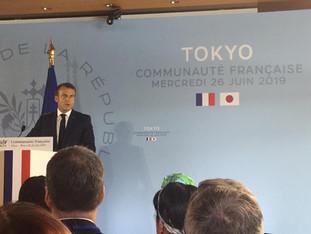 Visite de M. Macron Président de la République Française à Tokyo