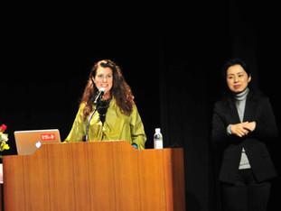 Speech et séance dédicaces au Green Hall de Chofu pour la journée internationale de la femme. Merci