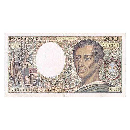 Billet 200 Francs - Montesquieu