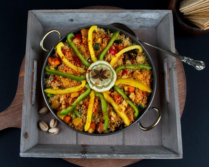 Vegan Restaurant recipe trials - Moroccan Couscous