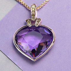 """Preloved Swarovski """"Heart of the Ocean"""" pendant - Bijoux Vintage"""