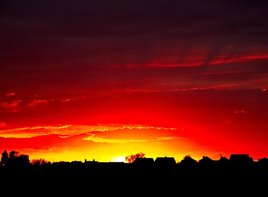 Sunset over Selston