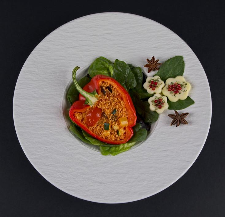Vegan Restaurant trial - stuffed pepper dish