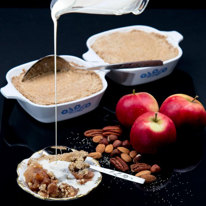 Vegan Restaurant Recipe Trials - Apple Crumble