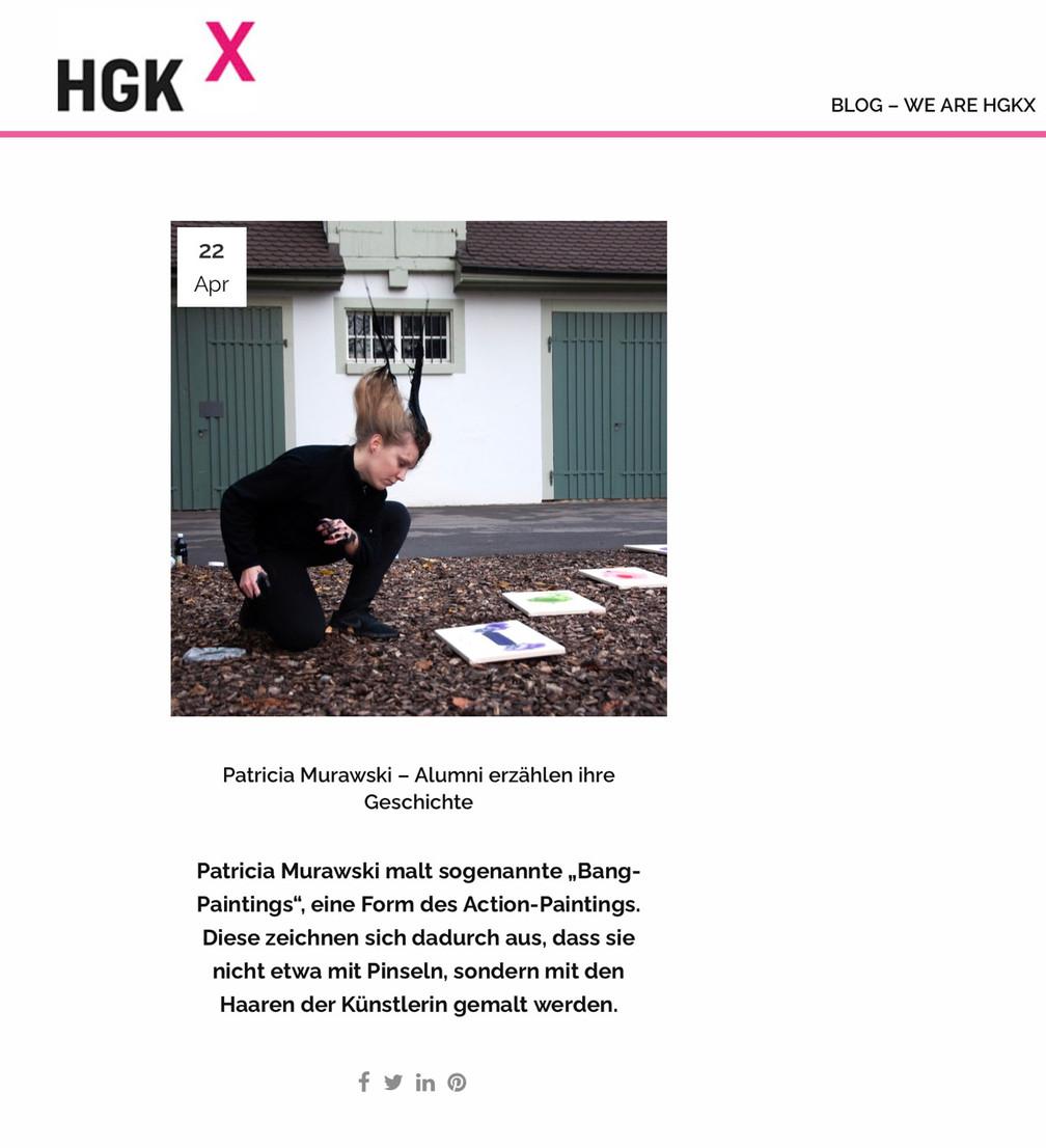 HGKx - Das Netzwerk der Ehemaligen berichtet