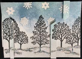 Snowy Winter Trees by Trishta Blizzard