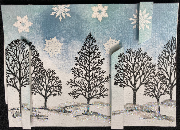 Snowy Winter Trees by Trishta Blizzard