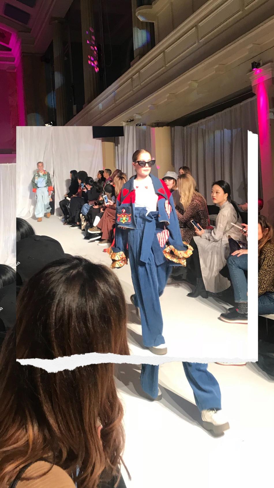 Walking London Fashion Week