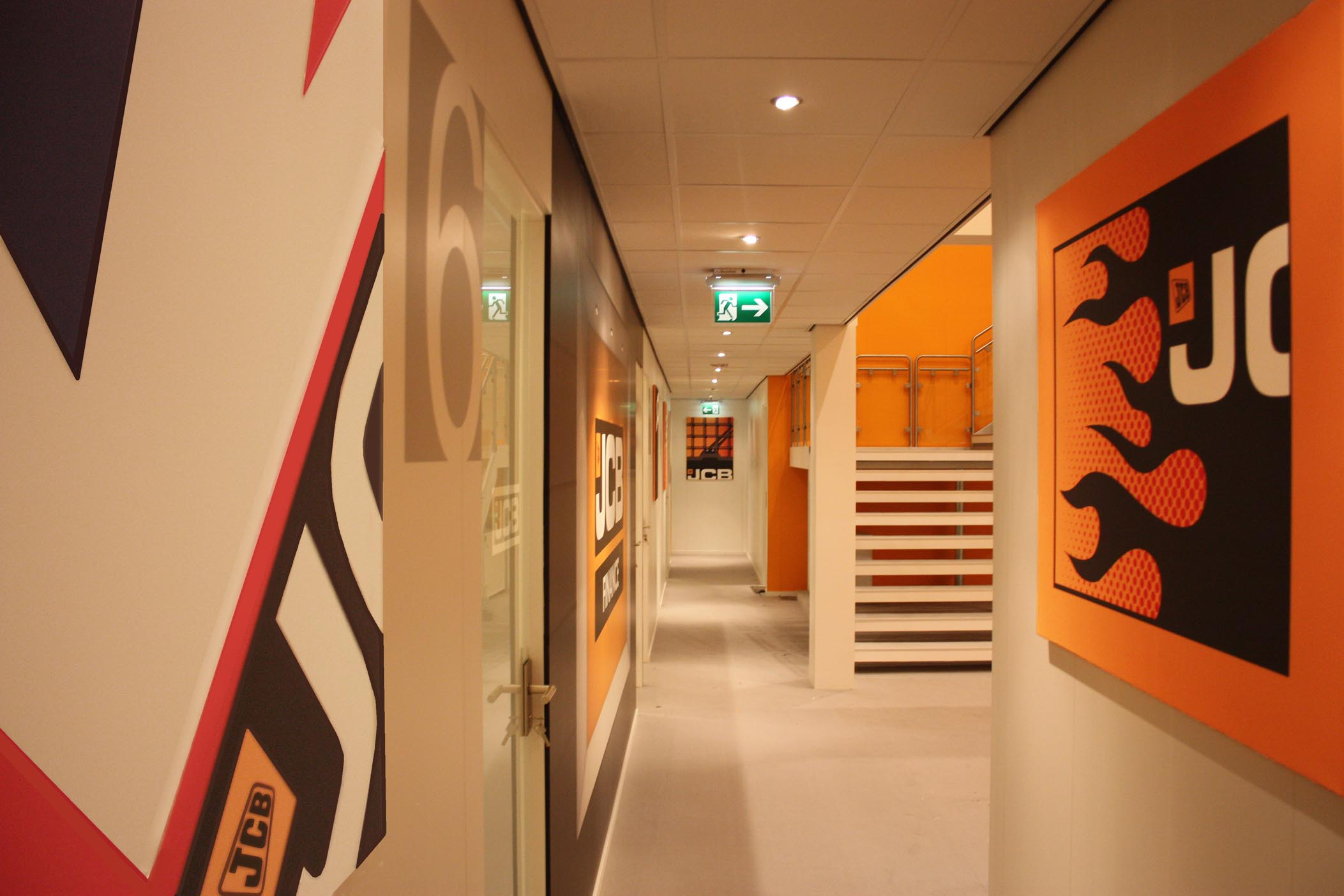 JCB Bauma Office corridor 3