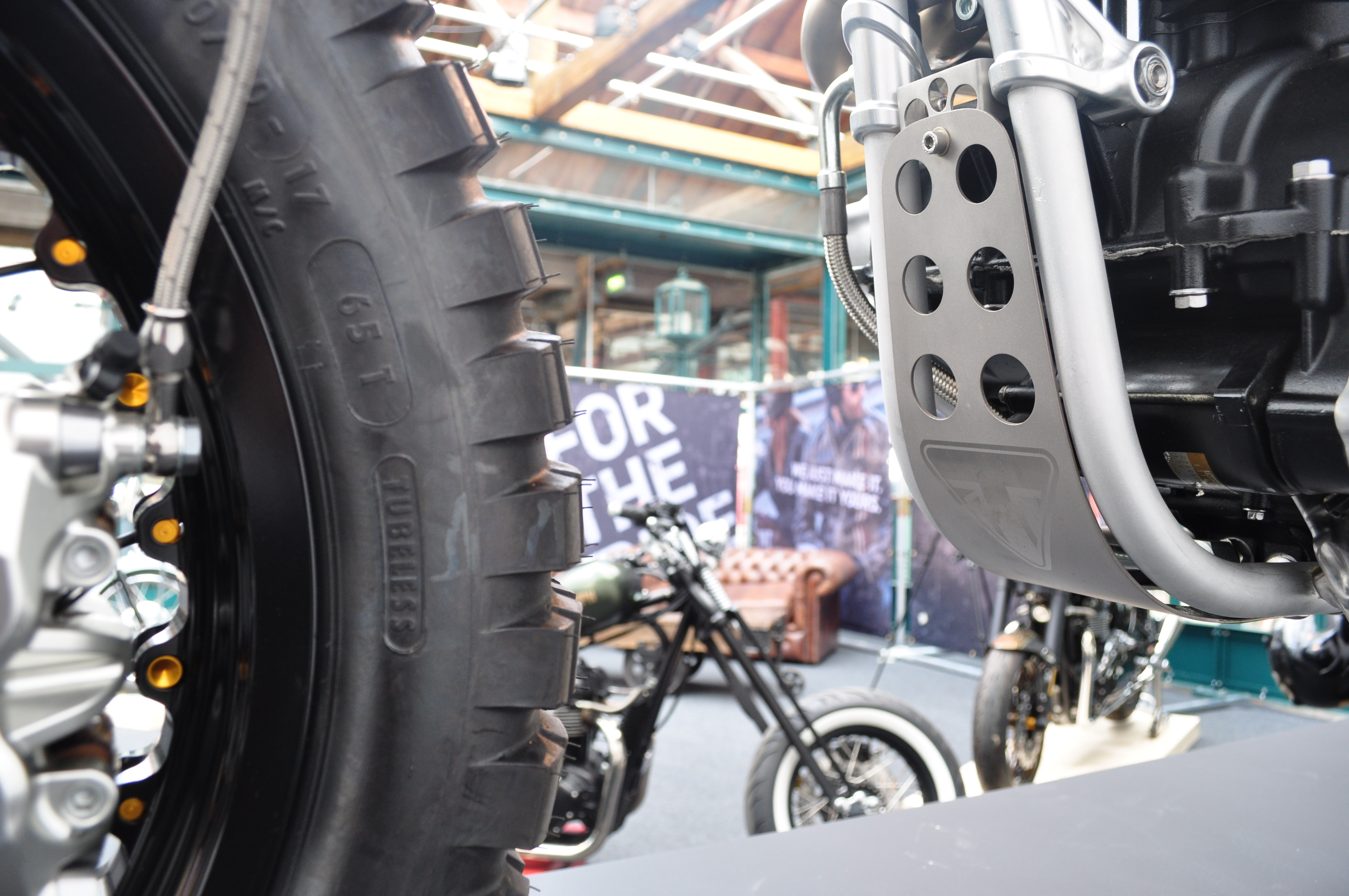 Triumph Bike Shed mud guard