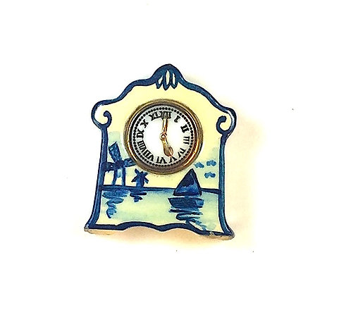 """Porcelain"" Artisan Mantle Clock"