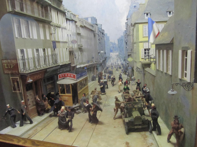 Sevellec scene depicting life in Brest during WWII