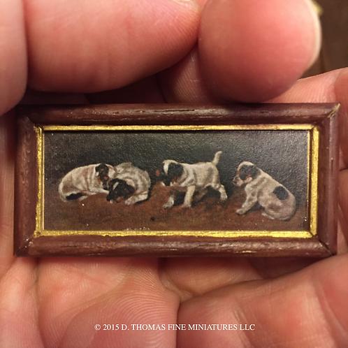 Custom Framed Print: Puppies