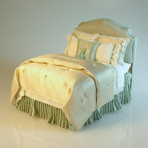 Lorraine Scuderi Upholstered Blue Bed