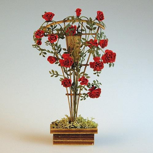 Blooming Rose Trellis by Arlene Finkelstein