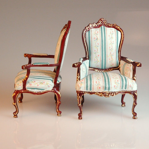 Handpainted Side Chairs Pair
