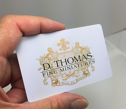$50 Gift Card to D. Thomas Fine Miniatures