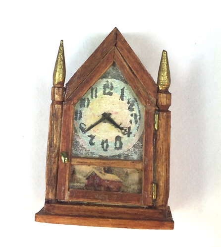 Wall Clock/Farm Scene/Finials by Hank Diernbach