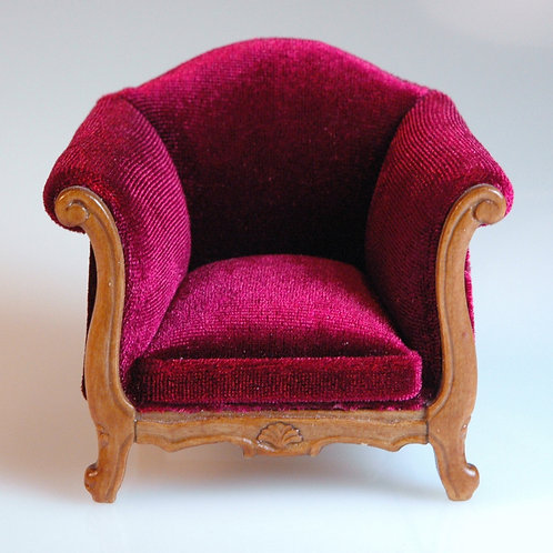 Red Velvet Arm Chair