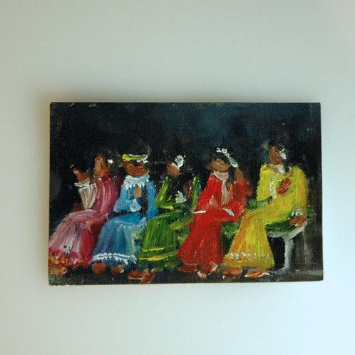 5 Little Indians Painting