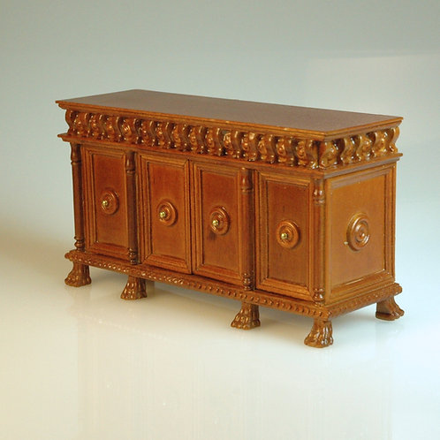 Carved Tudor Credenza