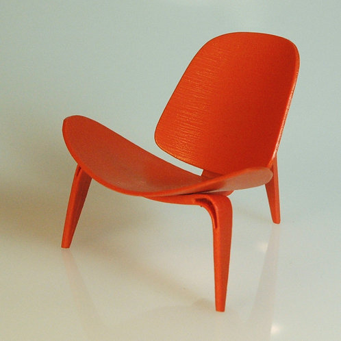 Bernet Skalstol Inspired Orange Chair
