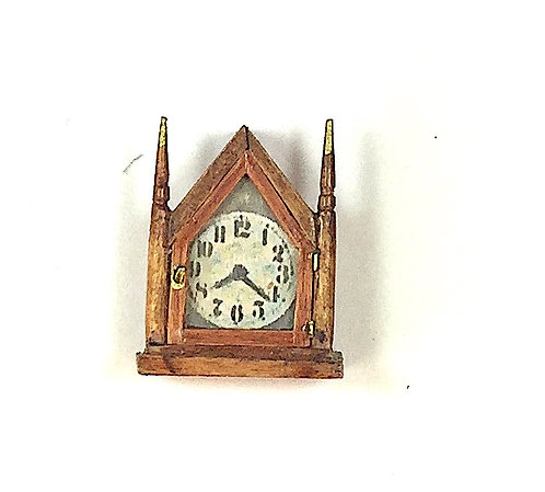 Vintage Shelf Clock/Gold Finials by Hank Diernbach