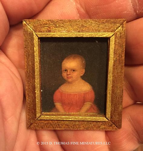 Custom Framed Print: Child in Red Portrait