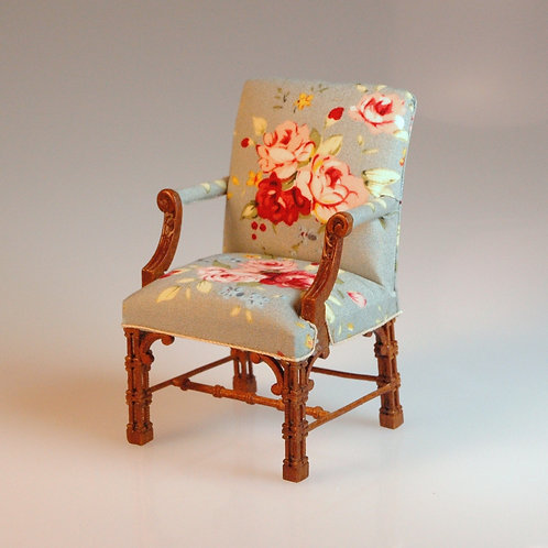 Chinese Chippendale Arm Chair by JBM