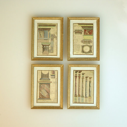 Set of Four Framed Architect Prints