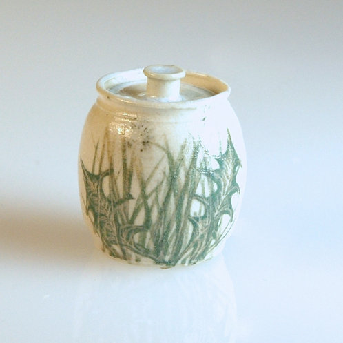 Dandelion Cookie Jar w/ Lid
