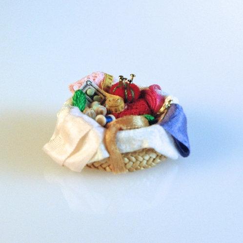 Straw Sewing Basket
