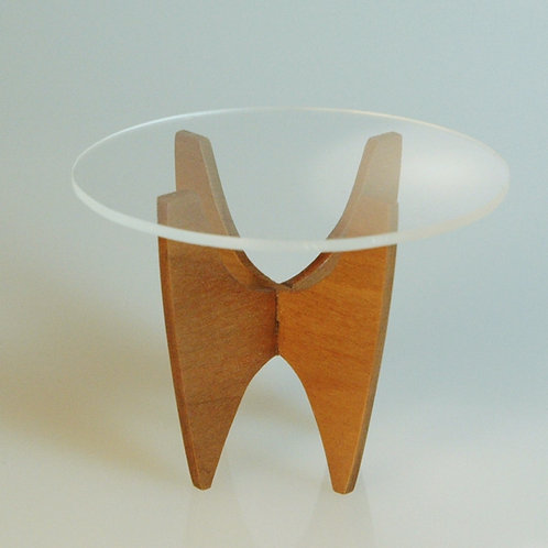 Patie Johnson Glass Top Side Table