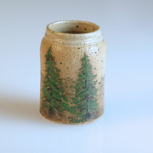 Tall Pot w/ Tree Scene