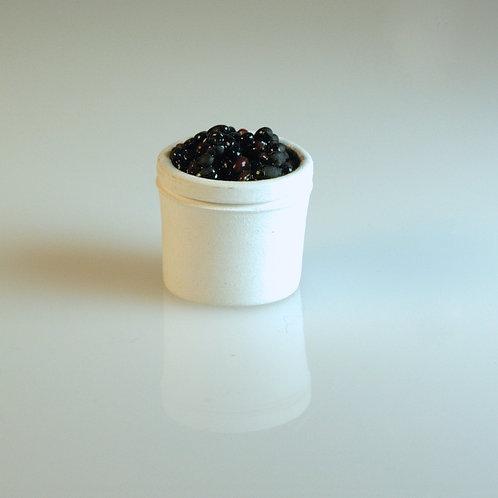 Tub of Black Olives