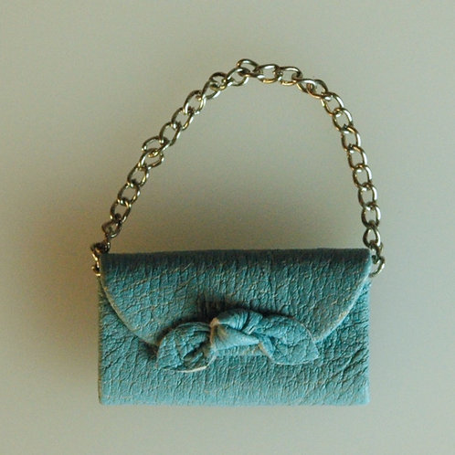 Blue Bag with a Bow