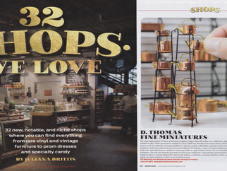 D. Thomas Fine Miniatures Featured in Westchester Mag's SHOPS WE LOVE: New, Notable and Niche Re
