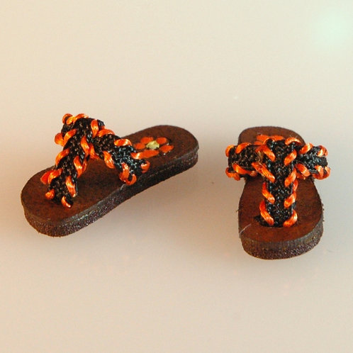 Black and Orange Sandals