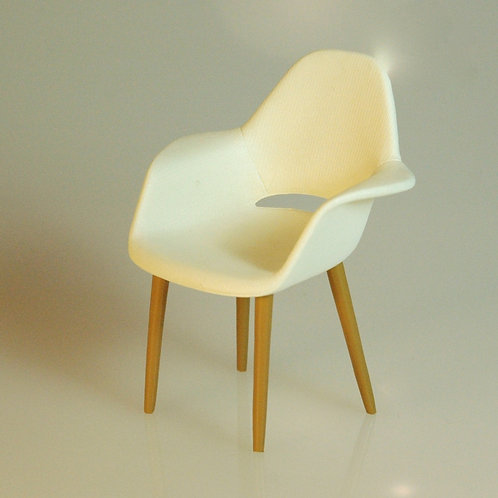 Charles Earnes Inspired Organic White Chair