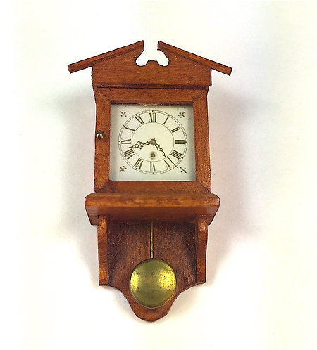 Vintage Wall Clock with Pediment by Hank Diernbach
