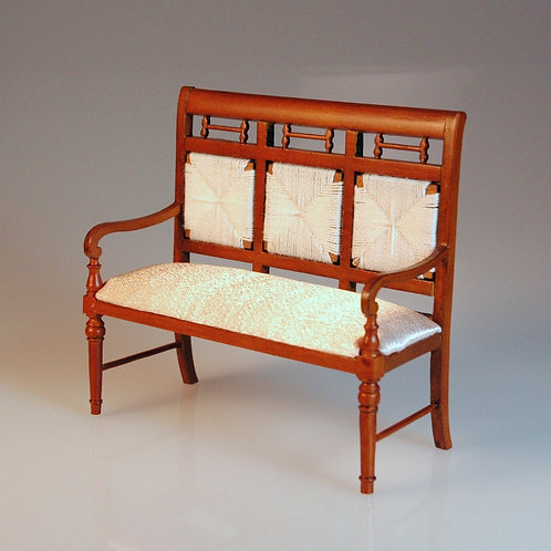 Settee with Rush Back