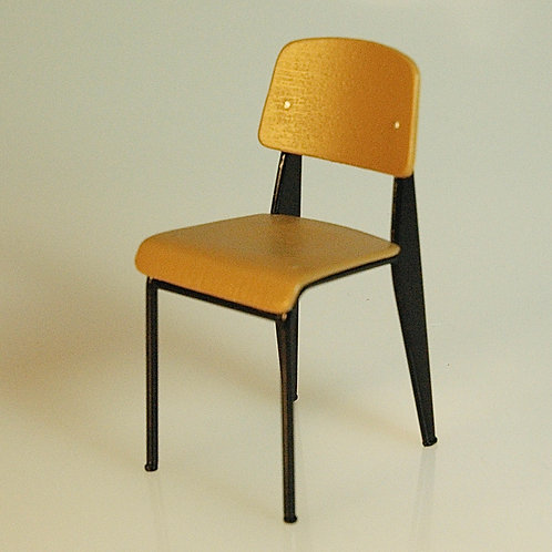Jean Prouvre Inspired Wood Back Standard Chair