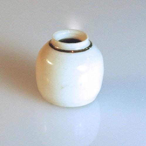 Porcelain Jar w/Gold Band