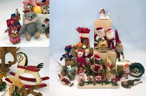 Teddy Bears, Rocking Horses and Miniatures Dollhouse Toys