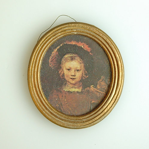 Round Framed Print by TAG